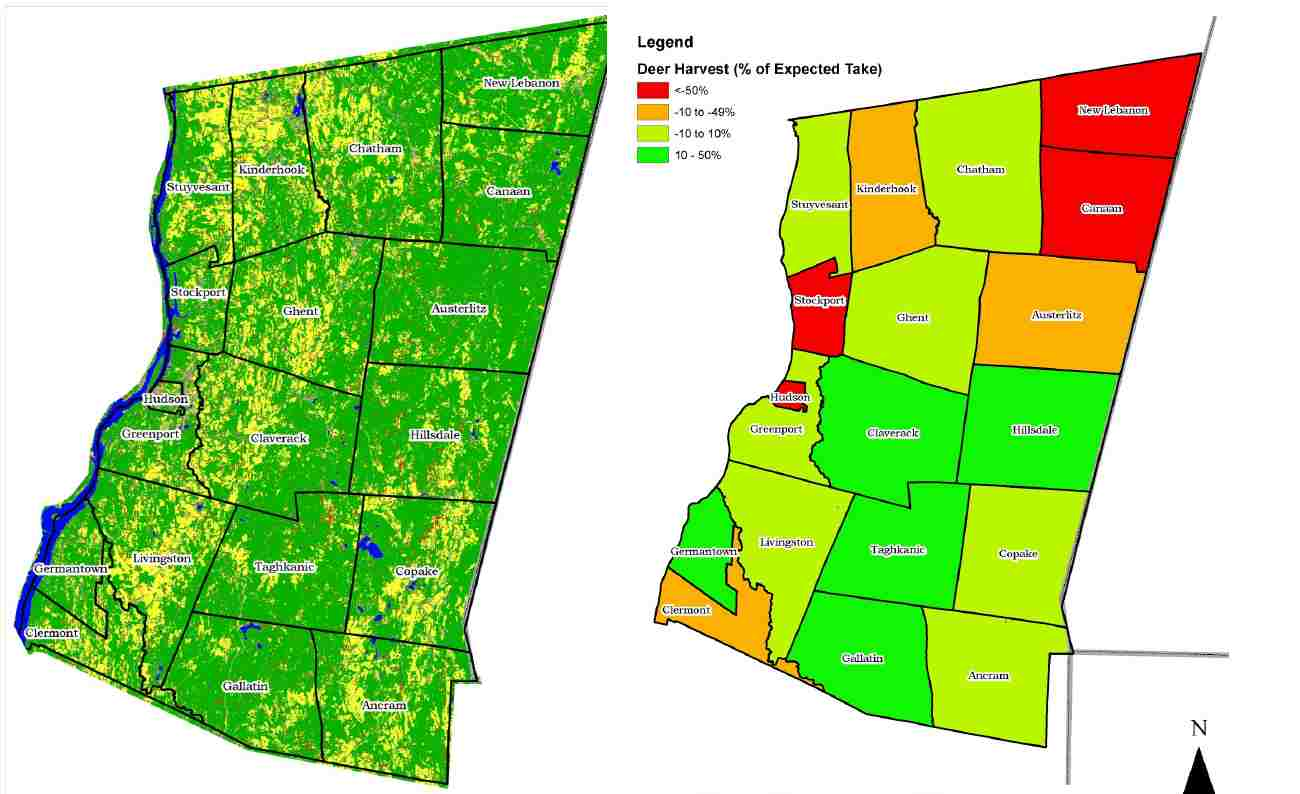 Land Use and Deer Harvest Maps
