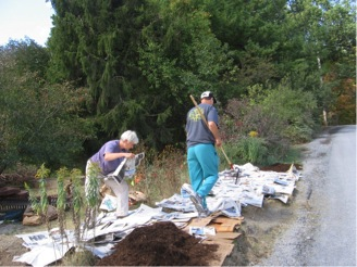 Volunteers in the Native Plant Garden